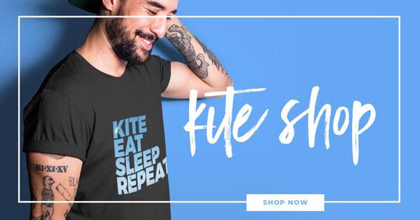 Kitesurf shirts, kitesurf mags, kitesurf gadgets in kitesurf shop