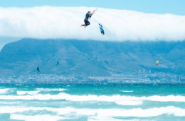 Kitesurfing safety – how not do it: me losing my board during a storm