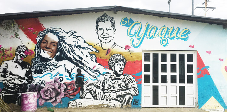 Streetart in El Yaque