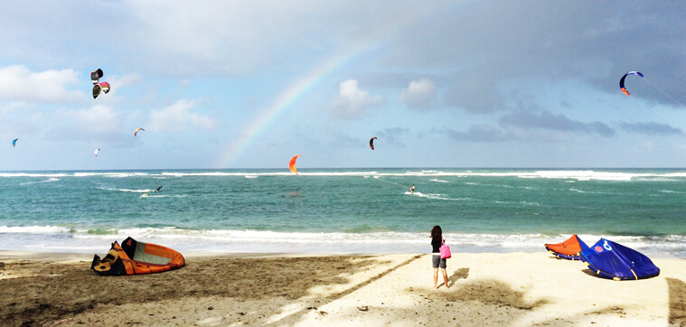 Rainbow above Cabarete's kite beach (Dominican Republic)