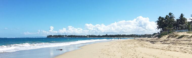 The Kitesurf Beach (Bozo Beach) in Cabarete, Dominican Republic