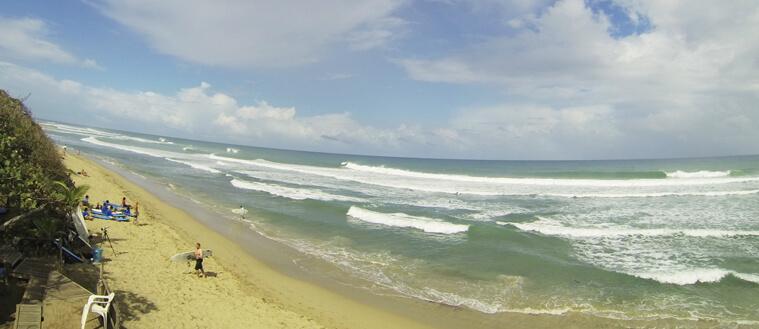 The surf spot Encuentro, close to Cabarete, in Dominican Republic