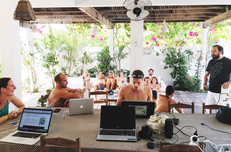 Coworking and coliving at the DNX Camp Jericocoara in Brazil