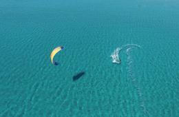 Kitesurfing in Limnos