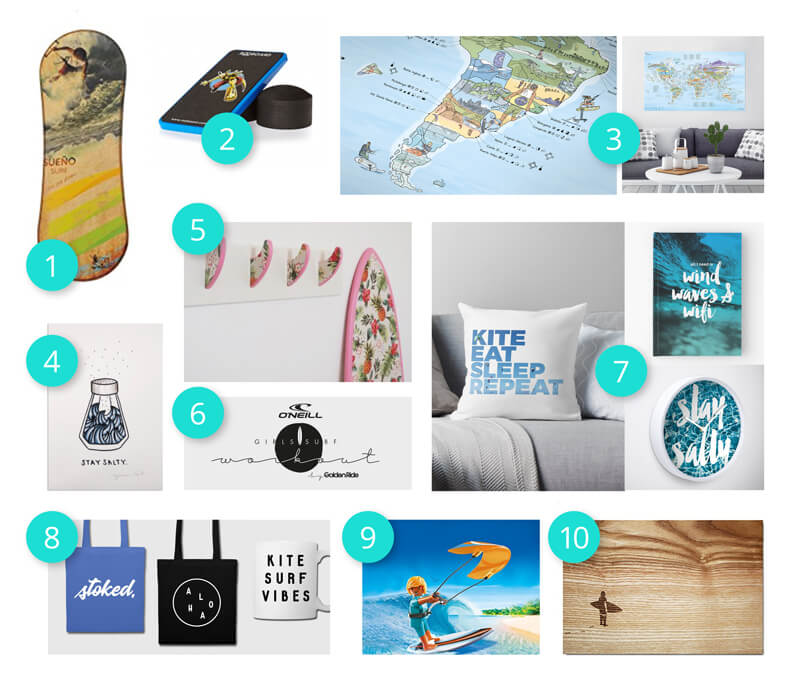 Present ideas for landlocked surfers