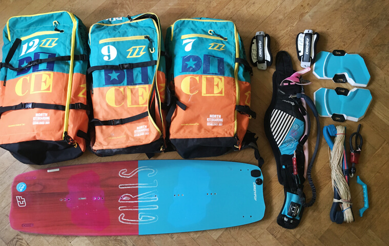 kiteboarding digital nomad – this is my equipment
