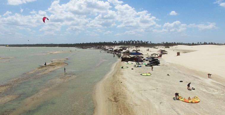 Top view of the Lagoa Grande – a pretty big kitesurf lagoon