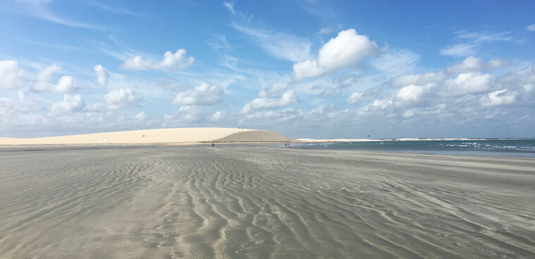 View on the Dune in Jericoacoara