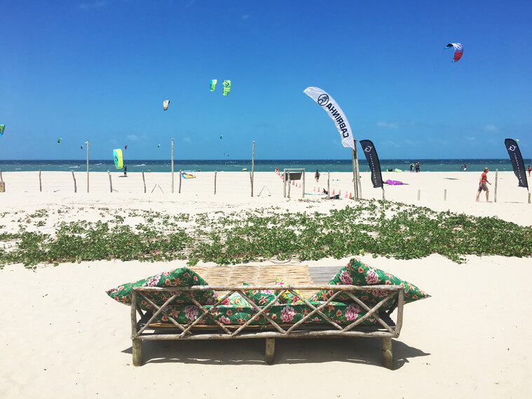the kitesurf spot in prea, brazil