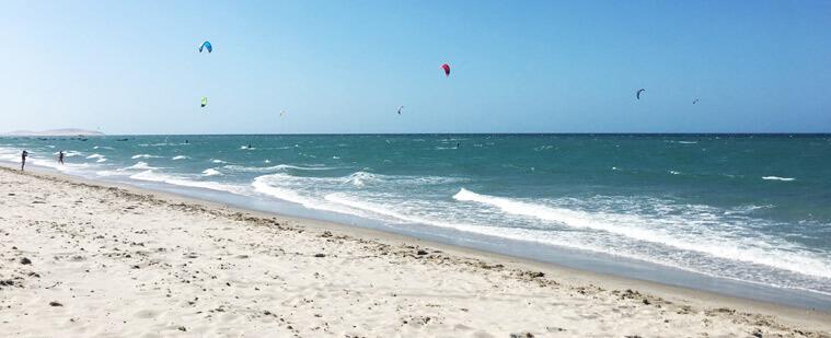 The kite beach in Prea, Brazil