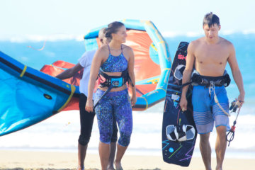 The kitesurf siblings in action