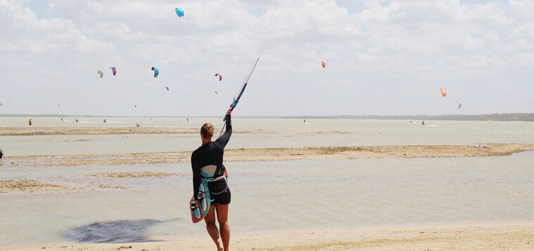 Everything you need to know if you want to learn kitesurfing.