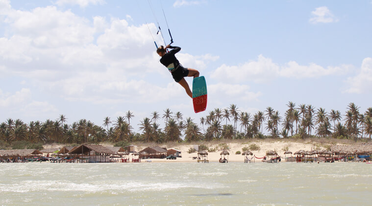 Jumping around in the lagoons of Brazil.