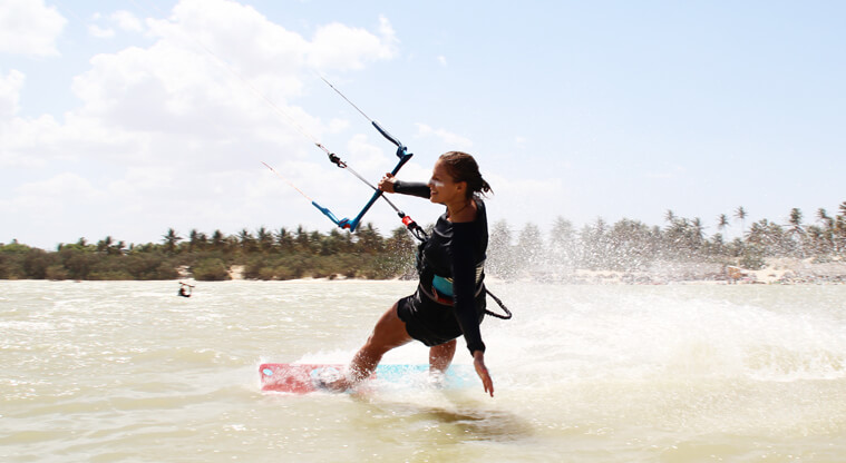 Learning to kitesurf is one of the most freeing feelings ever.