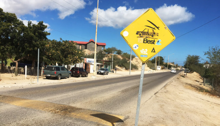 La Ventana is a proper surfer town: even the street signs have surfboards in them!