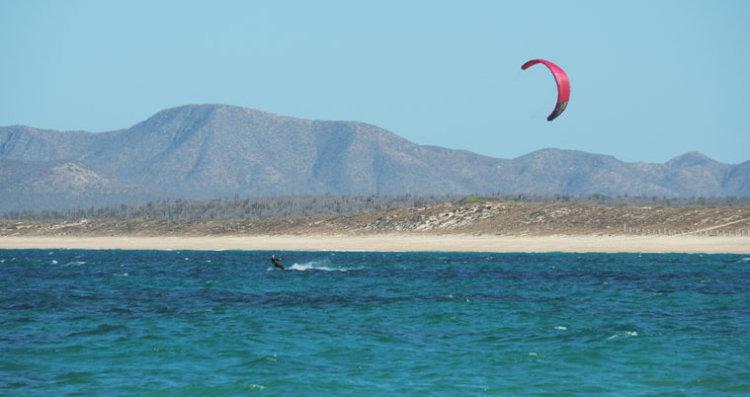 Kitesurfing in La Ventana, Baja California, Mexico