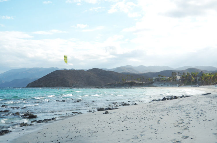 An unexpected kite session in Bahia de los Suenos, Mexico.