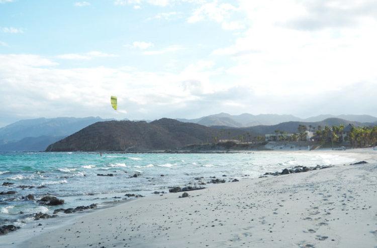 An unexpected kite session in Bahia de los Suenos, Mexico.