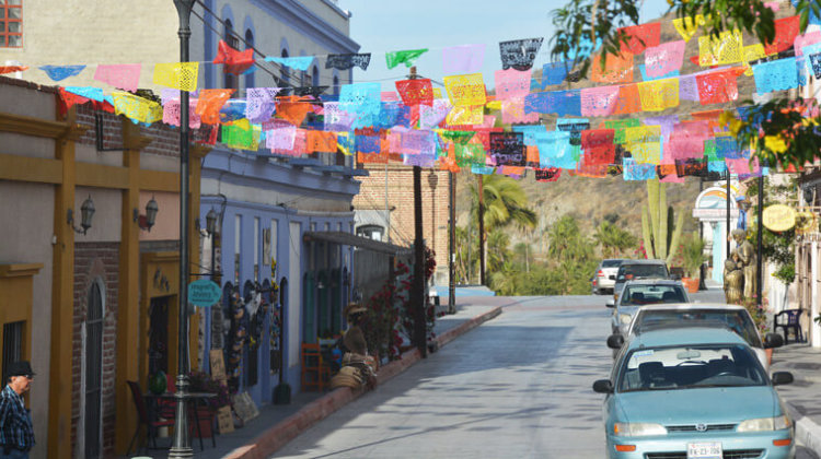 The colourful town of Todos Santos.