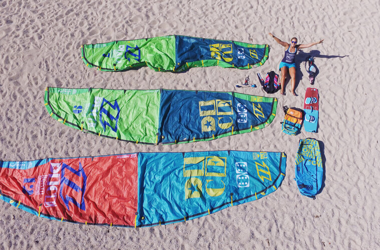 All the kitesurf gear I need to chase the wind