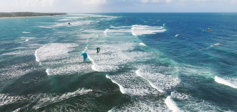 Tech gadgets around kitesurfing –the drone