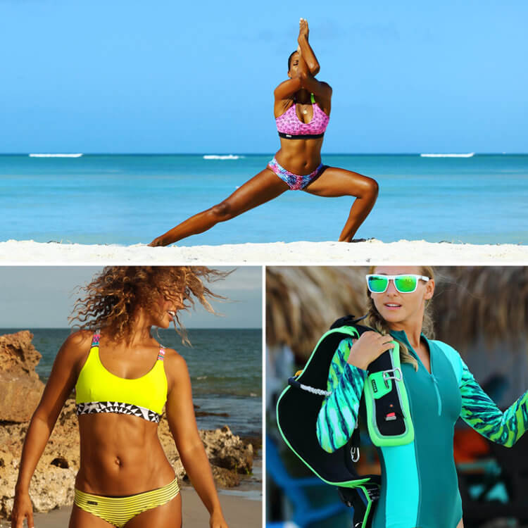 Kitesurf bikinis and surfwear by Drika
