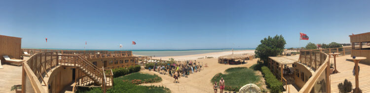 The panoramic view of Kiteboarding Club El Gouna