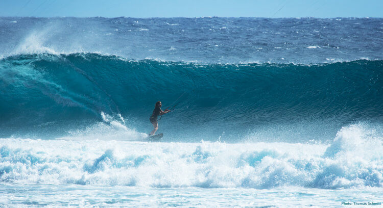 Marie shredding in some waves