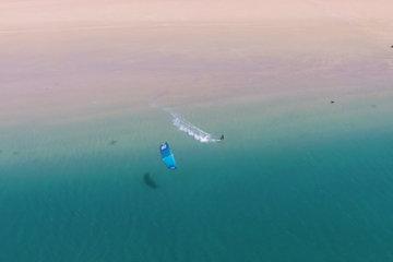 kitesurf dakhla morocco from above