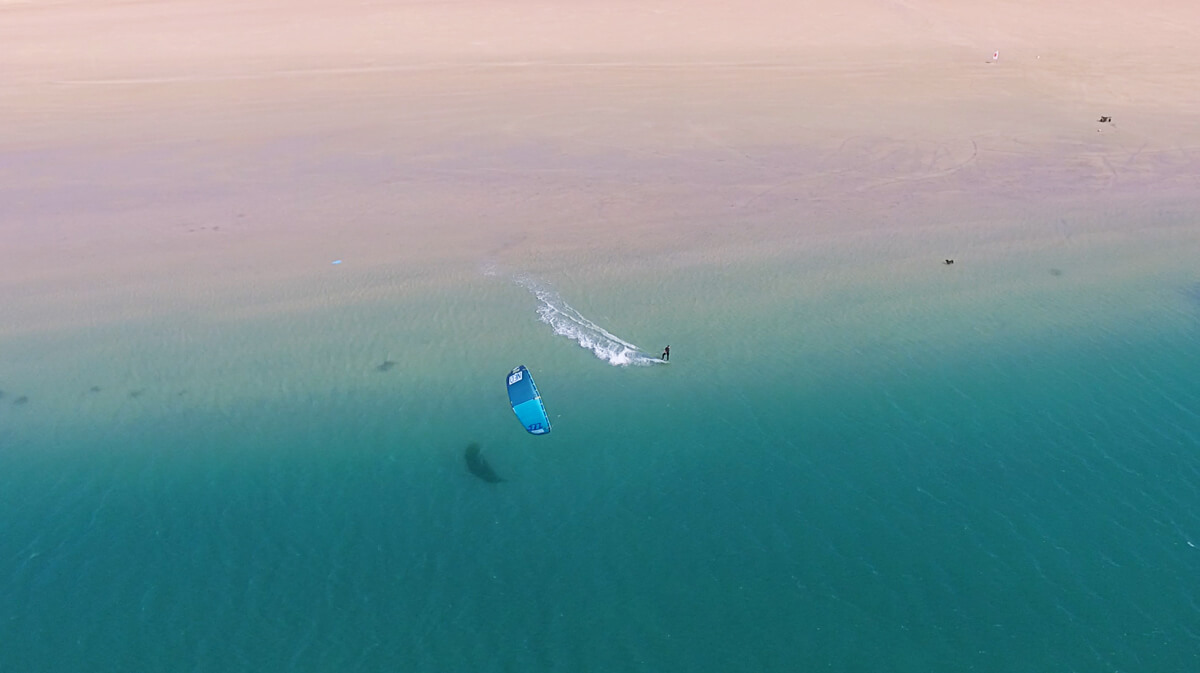 kitesurf dakhla morocco from above