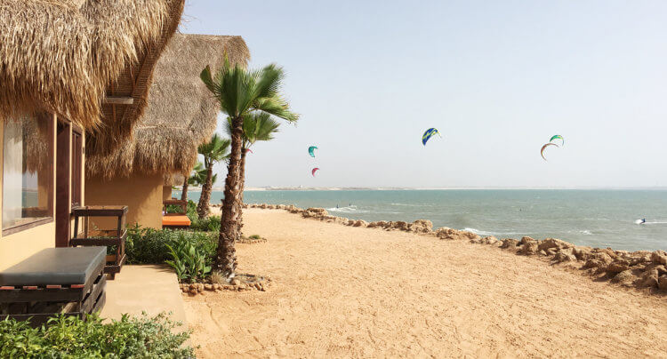 Accomodation in Dakhla right at the kitesurf spot