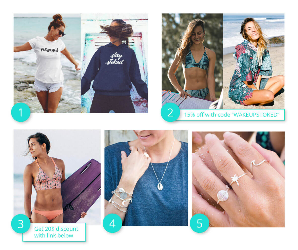 Gifts for kite girls, presents for surf girls, saltwater fashionistas and mermaids
