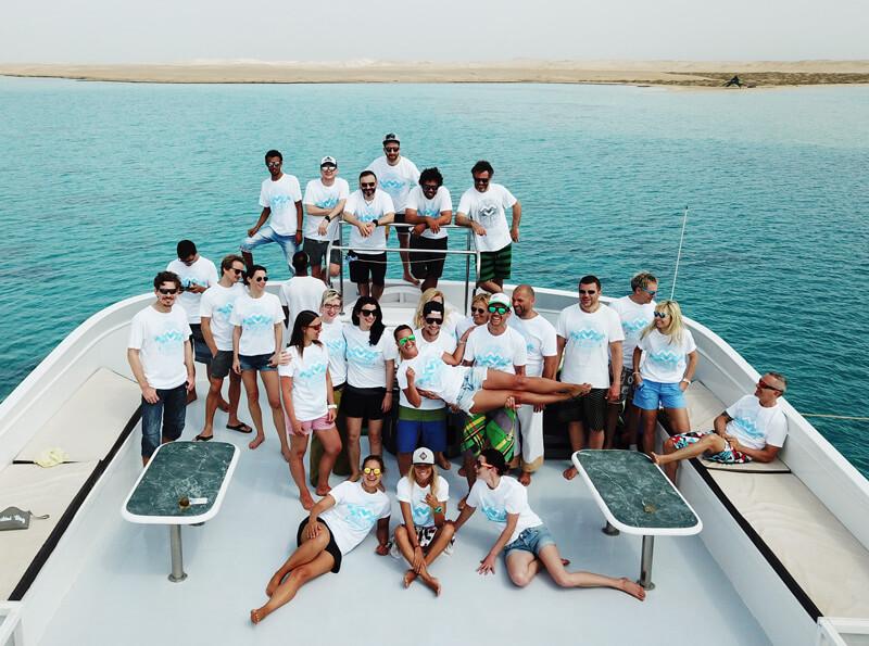 The group of our BigDayz kitesurf Safari