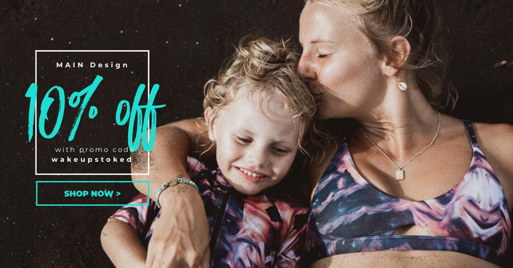 discount code for MAIN Design surf bikinis and swimwear