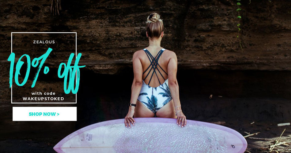Discount Code for Zealous Surf Bikini, Surfwear and Streetwear