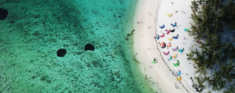 Kitesurfing in Mauritius, Le Morne