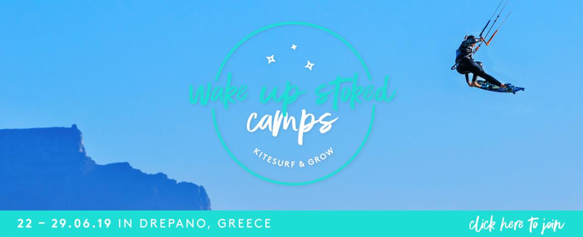 Kitecamp Drepano Greece June kitesurf holiday