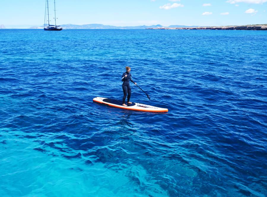 SUP on the kitesurf ibiza cruise