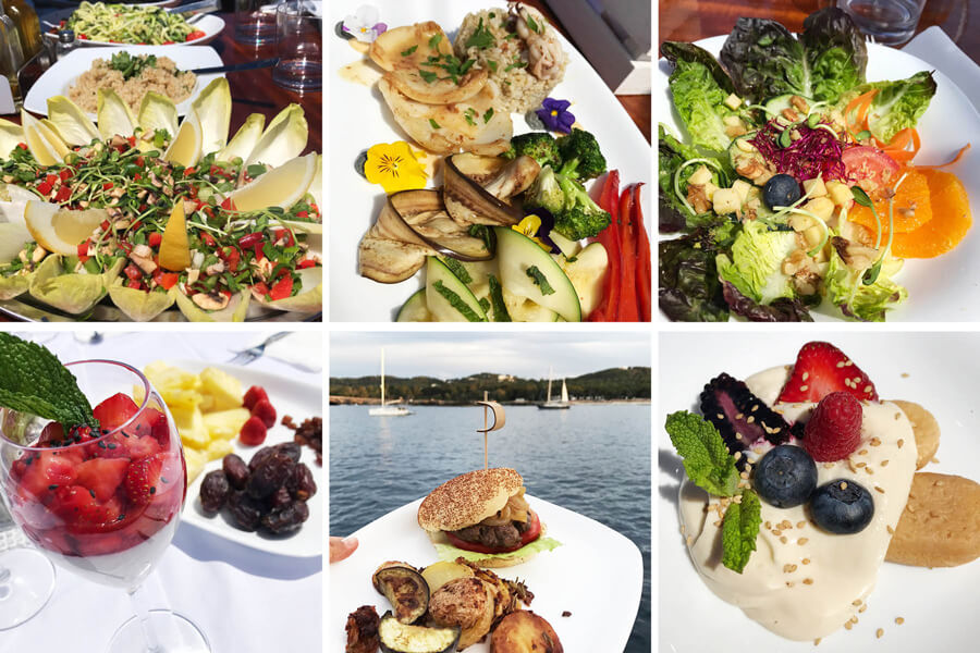 Ibiza kitesurf cruise experience – gourmet food on the boat
