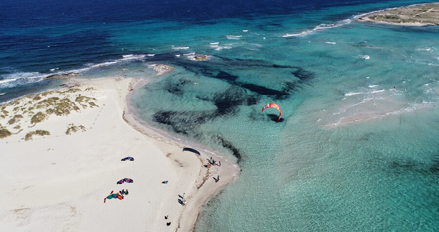 kitesurf ibiza on a cruise – kite spot espalmador close to Formentera