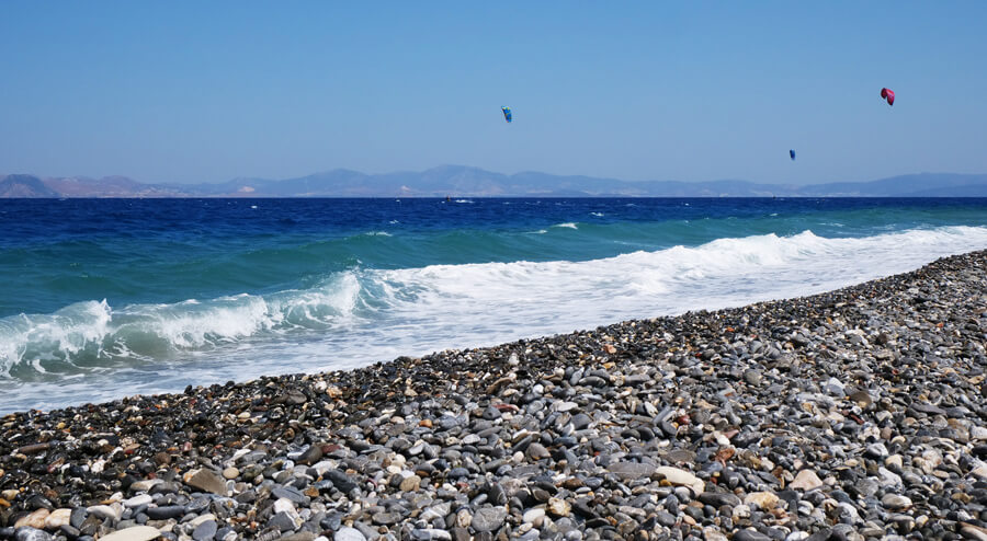 kitesurf in Kos, Psalidi, Greece