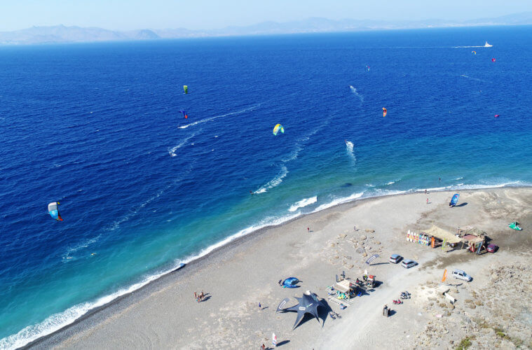 Spot Guide for kitesurfing in Kos, Psalidi in Greece