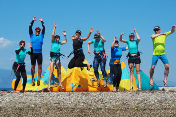 kitesurf yoga progression camp wake up stoked