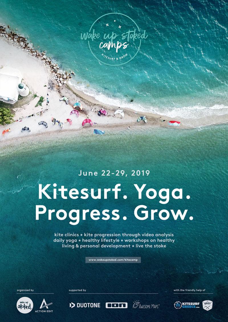 kitesurf yoga progression camp wake up stoked