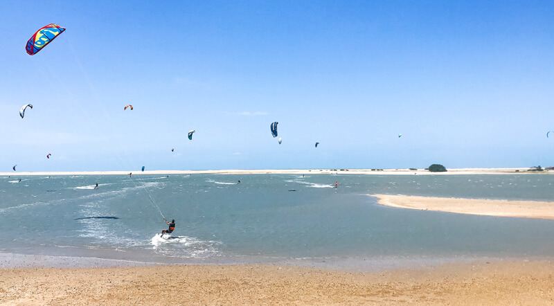 Kitesurf Spots Brazil: Ilha do Guajiru close to Itarema, Ceara