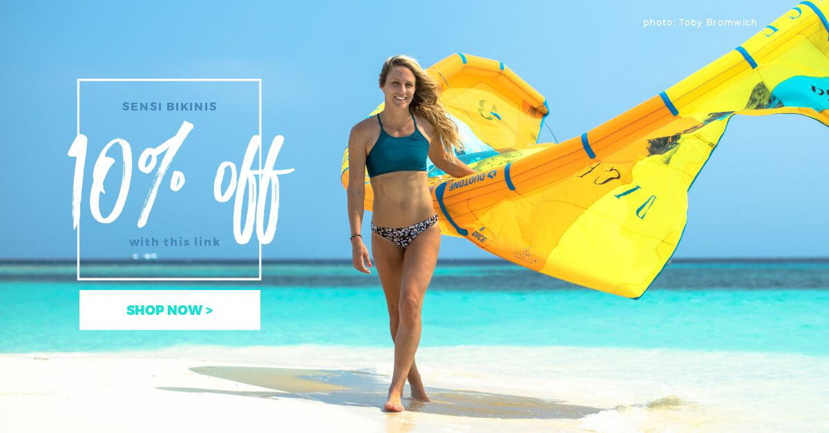 Discount Code for Sensi Surf Bikinis by Wake Up Stoked